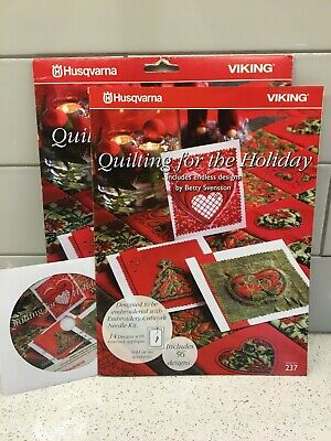 Husqvarna Viking Endless Embroidery Pattern #237 - Quilting For The Holiday - CD