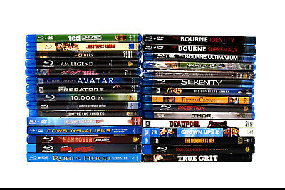 (Lot of 30) Assorted Bluray Movies Collection THOR- The Dark World (0838)