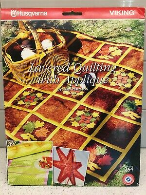 Husqvarna Viking Embroidery Pattern #264 - Layered Quilting Applique - CD