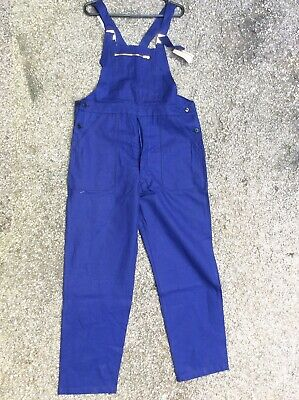 """Unworn Vintage 36-38"""" French Dungaree Overall Workwear Ww2 Resistance Land Girl"""