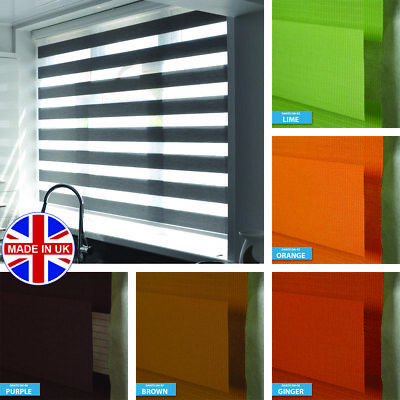 Made to Measure Premium Day and Night Vision/Zebra Window Cassette Roller Blinds