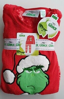 Primark Grinch Christmas fleece childrens kids pyjamas girls boys age 1-14 years