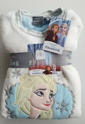 Primark Disney Frozen Girls Elsa cute pyjamas fleece set pj's Age 4-9 years old
