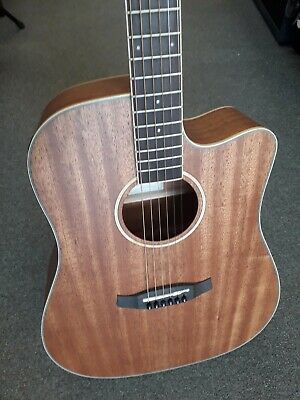 Tanglewood TWU DCE dreadnought electro acoustic guitar, satin mahogany, used,VGC