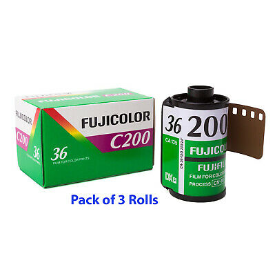 3 Rolls Fujifilm FujiColor C200 CA 35mm Color Negative 36 exp Film FRESH DATE