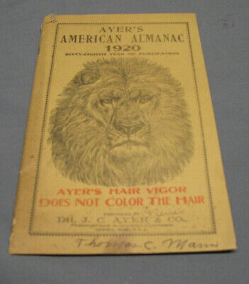 Antique Ayers American Almanac 1920  (Lot EZ)