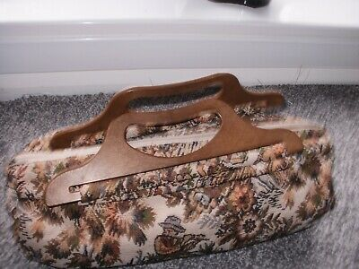 vintage Knitting Bag   VGC  barkoak original made in uk  carpet bag style