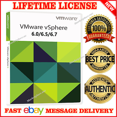 VMware ESXi vSphere 6/6.5/6.7 Enterprise Plus Unlimit +vCenter /INSTANT DELIVERY