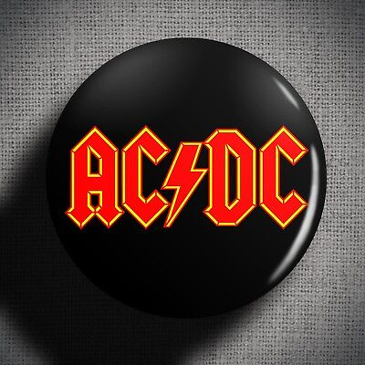 ACDC Pin Badge Button (1 inch 25mm) Hard Rock Band Music 1970s 80s AC DC