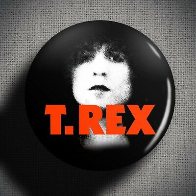 MARC BOLAN T-REX Pin Badge Button (1 inch 25mm) Glam Rock Music Band 1970s