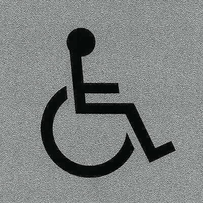 Top Quality Squared Instructional Self Adhesive 'Disabled' Information Signs