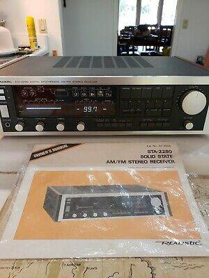 Vintage Solid State Realistic STA-2280 Digital Synthesized AM/FM Stereo Receiver