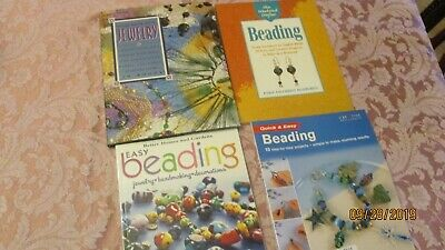 Lot of 4 Bead Beading Jewelry BOOKS projects techniques