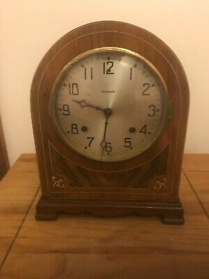 ansonia walnut cased mantle clock working