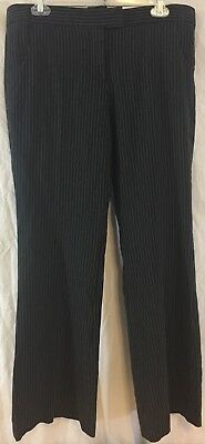 The Limited Drew Fit Womens Black Pinstripe Dress Pants Size 10