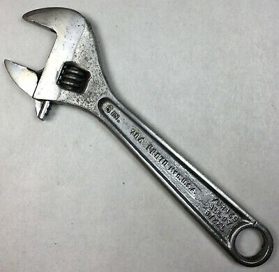 """Vintage PROTO TOOLS 706 - 6"""" Adjustable Crescent Wrench Made in USA """"W40"""" Stamp"""