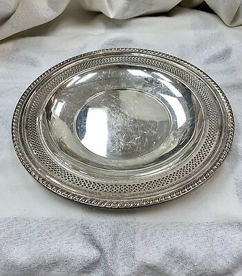 """Sterling Sliver 9 3/4""""inch Plate Tray Sign Old Dominion Dog #2854 243 gr"""