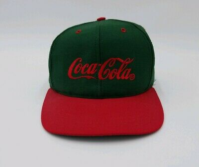 Coca Cola Vintage Snap Back Cap Trucker Hat Louisville MFG USA Green and Red