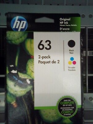 HP 63 2 PACK COMBO Ink Cartridges 1 BLACK 1 COLOR *BUY DIRECT SAVE $*