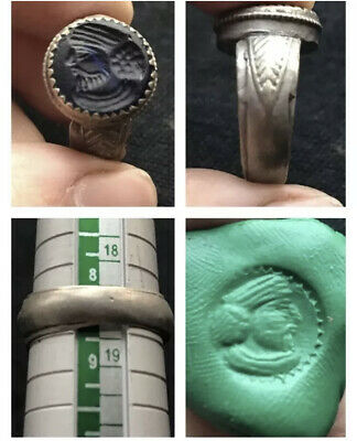 Wonderful Old Roman Intaglio Mix Sliver Unique Ring