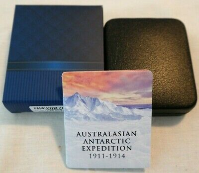 2014 Tokelau $5 Silver Proof Australasian Antarctic Expedition. CoA 130/4000