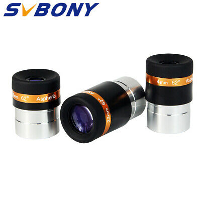 "1.25""HD 4/10/23mm Wide Angle 62°Aspheric Telescope Eyepiece Set For Astronomy AU"