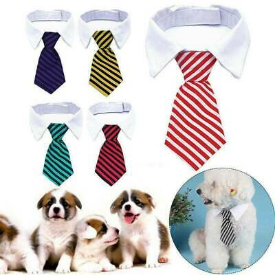 Cute Pet Striped Bow Neck Tie Collar Adjustable Necktie Bowknot For Dog Cat