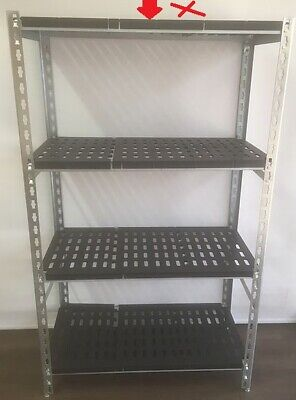 Coolroom Coldroom Shelving Steel Post ABS Real Tuff Shelves 1350H x 450W
