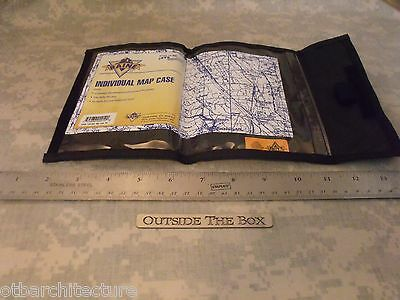 "US Military ""Individual Map Case"" BLACK Nylon, Weatherproof Document Protector"