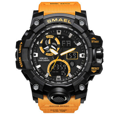 Military Men's Digital Luminous Analog Date Alarm Quartz Wrist Sport Army Watch