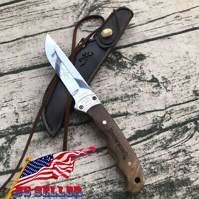 Camping Outdoor Fixed Blade Knife Browning Shadow Wood Small Hunting Knife US/AU