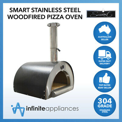 Smart Stainless Steel Woodfired Pizza Oven Wood Fire With Paddle, Brush & Cover