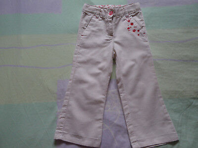 Pantalon fille SERGENT MAJOR en 2 ans 24 mois beige rouge rayures