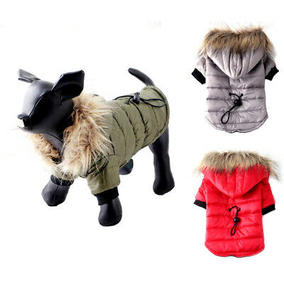 Warm Small Dog Clothes Winter Dog Coat Jacket Puppy Hoodie For Chihuahua Bulldog