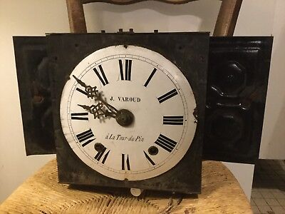 Antique french comtoise Morbier clock 19th century France Enamel Face Original