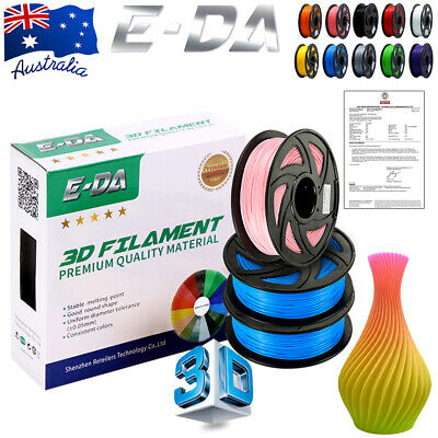 E-DA 3D Printer Filament ABS PLA+ PETG 1.75mm 1kg/roll 10 colours Aussie Stock