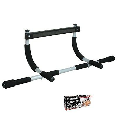 Iron Gym Door Gym Pull Up Chin Up Bar Strength Training Sealed in Retail Box