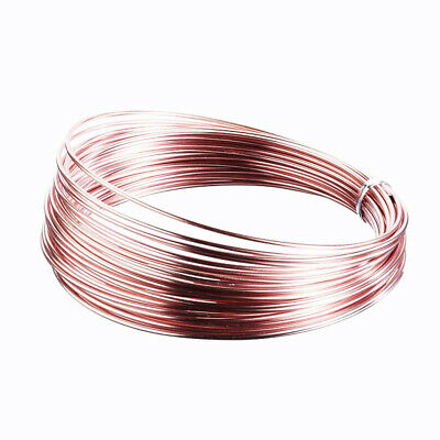 Aluminium Wire Floristry Craft Jewellery Rose Gold 2mm x 12 metre roll