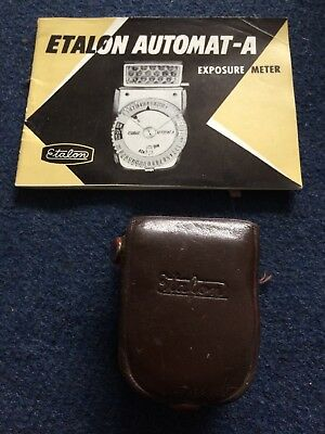 Vintage Etalon Automat A Exposure / Light Meter