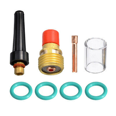 8pcs TIG Welding Torch Stubby Gas Lens Cup Collet Body Nozzle for WP-9/20/25