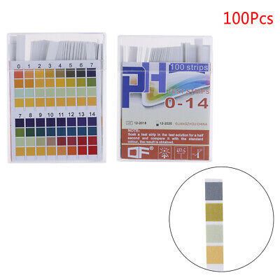 100PcPH indicator test strips 0-14 test paper water litmus tester urine salivaFB