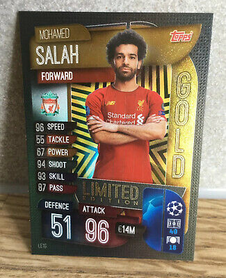 Match Attax 2019/20 Mohamed Mo Salah Gold Limited Edition Liverpool LE1G