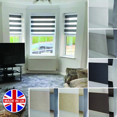Premium Made to Measure Day and Night Vision/Zebra Window Cassette Dimout Blinds