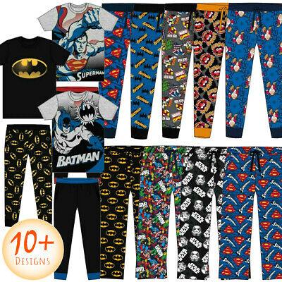 Mens Pyjamas DISNEY Character Cotton FOOTBALL Set Or Pyjama Trouser Bottoms New