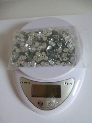 Bag of 6mm Silver Cup Sequins ~ 19g