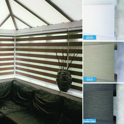 Premium Blackout Made to Measure Day Night Vision/Zebra Window Cassette Blinds