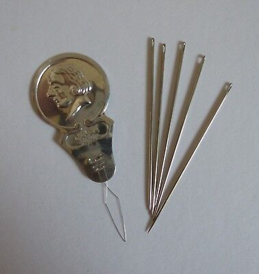 Needle Threader with 5 Sewing Needles