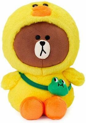 LINE FRIENDS Plush Standing Doll - Brown in CONY Character Costume Soft Toy