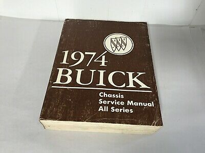 1974 Buick Chassis Service Manuell 74