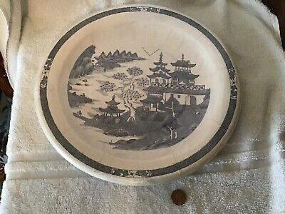 Blue willow pattern large paper dinner buffet plates Canton